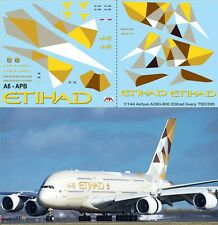 1/144 Airbus a380 - 800 Etihad Airways livery decals decal tbd395