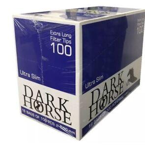 BULK BUY DARK HORSE ULTRA SLIM EXTRA LONG FILTER TIPS (1600) BRAND NEW
