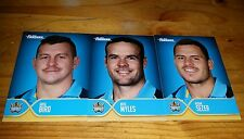 2015 NRL ESP TRADERS FACES OF THE GAME   GOLD COAST TITANS 3 CARD TEAM SET MYLES