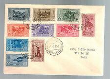 1932 Naples Italy Cover Complete GAribaldi Set # 280-289 to Rome