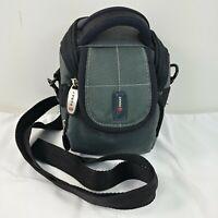 Foray Camera Case Rugged Sport Gray Black Strap Padded Divider Zippered