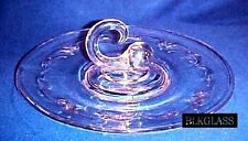 Comet Secrets Paden City Glass Company Fancy Handle CHS Center Handle Plate Tray