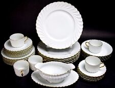 (1) Haviland Limoges France Elegance Torse White Swirl Gold Trim Salad Plate