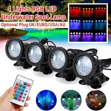 4 Lights RGB 36-LED Underwater Spot Light Garden Pool Aquarium Pond Lamp ABS