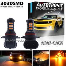 9006 HB4 30SMD LED Fog Light Bulb Conversion Kit Super Bright 3000K Amber Yellow