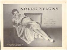 Vintage ad for Nolde Nylons`Sexy model legs Photo retro fashion   101517
