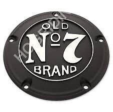 Jack Daniels Old No 7 chrome derby cover Harley softail touring dyna flst flht