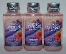 3 BATH & BODY WORKS FRENCH LAVENDER HONEY SHOWER GEL WASH SHEA VITAMIN E LOT NEW
