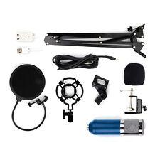 Bm800 Condenser Microphone Mic Live Studio Sound Recording With Shock Mount Kit
