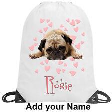 Pug Princess Dog Personalised School Gym Swimming PE Nursery Summer Holiday Gift