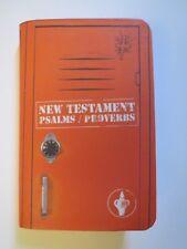 Gideon's Orange Pocket NEW TESTAMENT & PSALMS PROVERBS Bible English