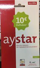 AyYildiz AyStar Telefonica (E-Plus) Prepaid SIM Karte + 10€ Startguthaben