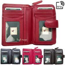 Cartera De Cuero Suave RFID Multi Compartimento Visconti nuevo en caja de regalo HT33