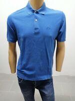 Polo SERGIO TACCHINI Uomo Taglia Size 48 T-Shirt Man Manica Corta Blu Cotone5654