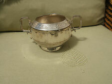Antique Silver Plated Sugar Bowl.