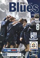 2003/04 Southend United v Luton Town, LDV Vans Trophy, PERFECT CONDITION