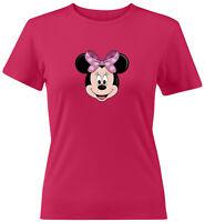 Minnie Mouse Face Head Classic Juniors Teen Women Tee T-Shirt Gift Shirts Disney