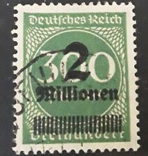 Deutches Reich 1923  inflation surcharged stamp SG 303 fine used