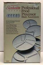 Sunbeam Vista Professional Food Processor 5 Blade Assortment New