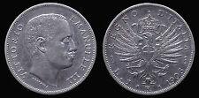 pci1161) VITTORIO EMANUELE III°- 1 LIRA AQUILA SABAUDA 1906 ARGENTO