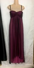 Dolce Gabbana Long Dress Plum Silk Layers  Thin Straps Size 42 Small NWT $1290