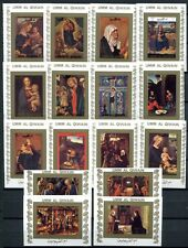 Umm Al-Qiwain 1972 Leben Christi Gemälde Paintings 1162-77 B Imperf Blocks MNH