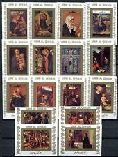 Umm al-Qiwain 1972 vita di Cristo dipinto dipinti d'azione 1162-77 B Imperf BLOCCO MNH