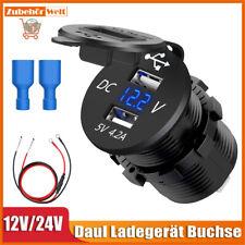 Motorrad Zigarettenanzünder USB Buchse Steckdose Lenker 12V-24V wasserdicht