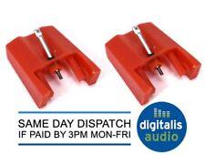 2 x Stylus di ricambio per Bush MTT1, Sony PSJ10, PSLX56, STY158 ST09D di ricambio