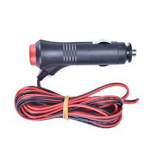 3m 12V 24V Male Car Cigarette Lighter Socket Plug Connector On Off Switch Pop PR
