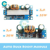 DC-DC 3A 30/35W Auto Buck Boost Step Up/Down Power Supply CC CV Regulator Module