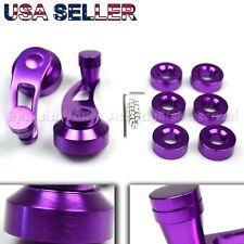 "FOR OLD JDM CARS! 3.3"" ALUMINUM ALLOY!USA ANODIZED PURPLE WINDOW CRANKS WINDERS"