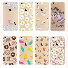 Ultra Thin Crystal Clear Pattern Soft TPU Case For iPhone 5/6/7/8/X Samsung