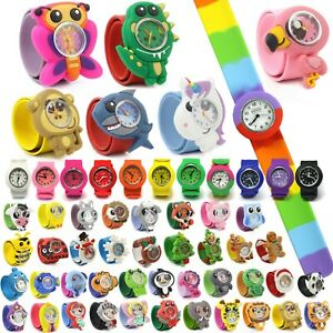 Wacky Watches Snap On Slap Band For Kids Boys Girls Silicone Accessories Animal