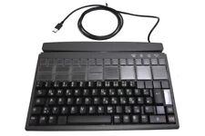 Kassentastatur POS Keyboard Preh Prehkeytec MCI 128 USB schwarz mit Kartenleser