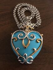 Vintage Michael Valitutti Gems en Vogue Heart Pendant Sleeping Beauty Turquoise