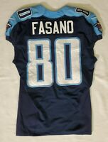 #80 Anthony Fasano of Tennessee Titans NFL Locker Room Player Worn Jersey