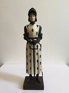 SAINT JOAN OF ARC STATUE SCULPTURE FIGURINE MEDIEVAL CHURCH RELIGIOUS CATHOLIC J