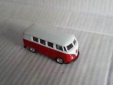 1/64 '62 VW Microbus Samba T1 Bus 1962 In Red & White Matchbox Size / NM / Loose