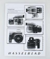 HASSELBLAD DEALER PRICE LIST 2002 ((XEROX COPY))