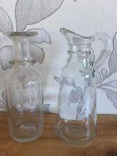 Set of two Vintage Glass Bottles