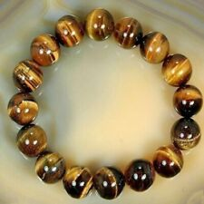 8mm Natural Stone Tiger's Eye African Roar Turquoise Round Beads Bracelet Bangle