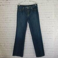 Elie Tahari Womens Jeans Size 12 Long High Rise Dark Wash Stretch 32x34