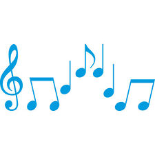 Set S Noten blau Violinschlüssel Notenschlüssel Musik Auto Deko Aufkleber Tattoo