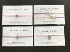GOOD LUCK, BEST FRIENDS INFINITY, BE BRILLIANT, LAUGH LOVE GIFT BRACELETS & CARD