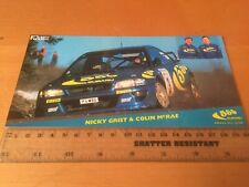 1996 Colin McRae SUBARU RALLY EQUIPO Fábrica Tarjeta Postal 3 mundo