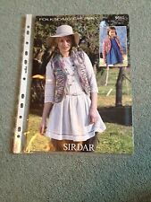 Sirdar Folksong Chunky Pattern No. 9660 Ladies/Child`s Jacket & Waistcoat