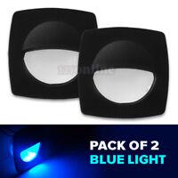 Pack of 6 Blue Light Dream Lighting LED 12Volt Oval Courtesy Light for Marine Yacht Boat Cabin Deck Outdoor Lighting Walkway Stair Step Light-Stainless Steel Housing