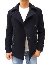 Camisa para hombre azul marino de Peso Pesado Lana Commodity Pea Abrigo Chaqueta Tamaño mediano #2792