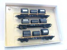 M+D / Klein Modellbahn H0 402 3er Set Rungenwagen Phoenix DB AC OVP (KV7731)